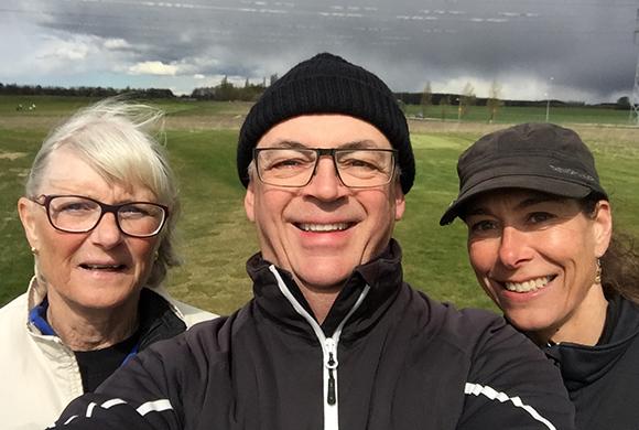 Golfie med Ulla och Karin